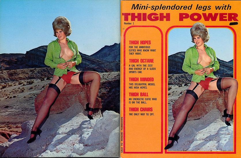 Thigh Power (Vintage adult magazine, premiere issue, 1969)