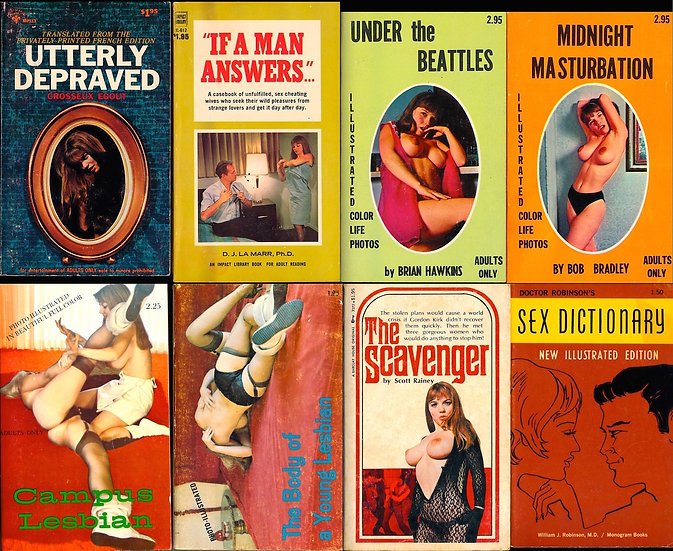 Michelle Angelo, cover model (8 vintage adult paperbacks, 1967-73)
