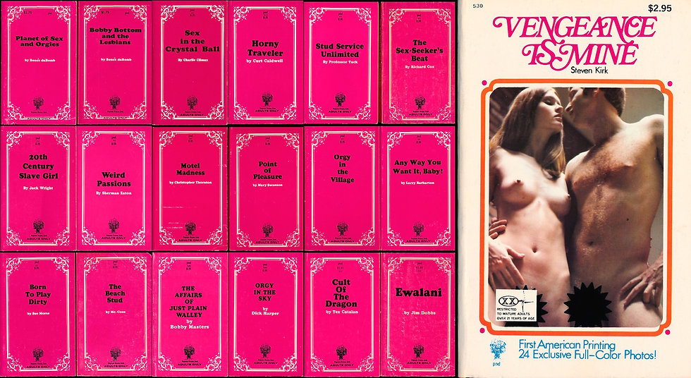 Peyote Press (19 vintage adult paperbacks, 1969-72)