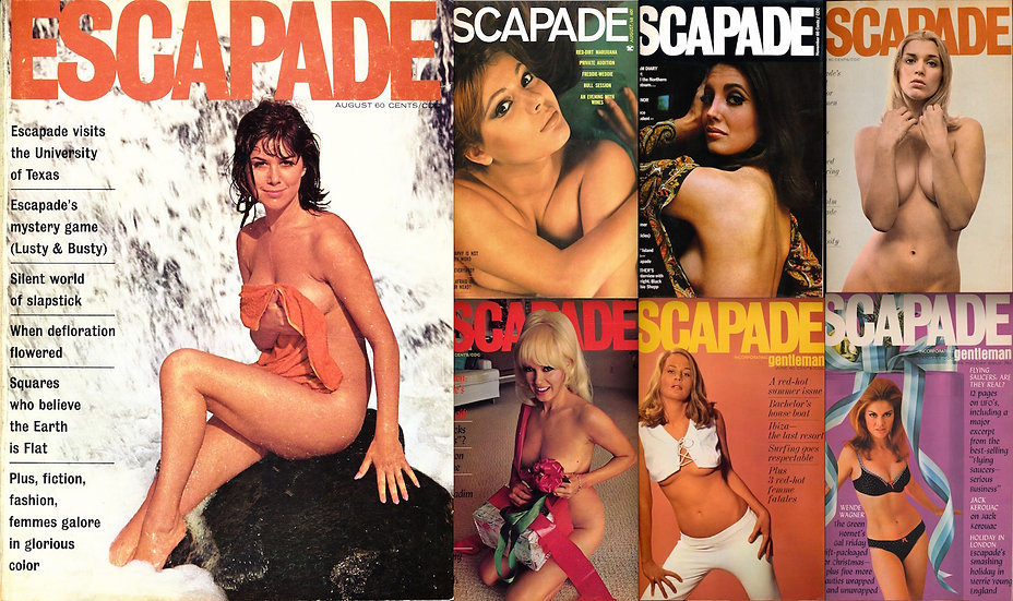 Escapade (7 vintage adult magazines bound together, 1965-68)