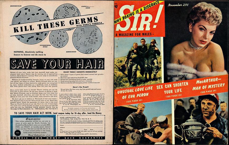 Sir! (Vintage magazine, November 1952)