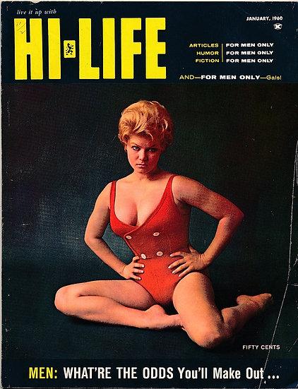 Hi-Life (Vintage Magazine, Terry Higgins cover model, Jan 1960)