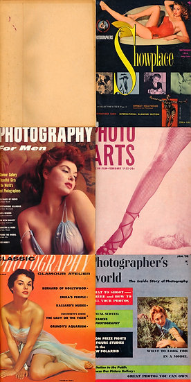 Model and Nude Pin-Up (5 vintage pin-up magazines bound together, 1956-58)