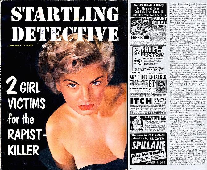 Startling Detective (Vintage crime magazine, Barbara Nichols cover, 1953)