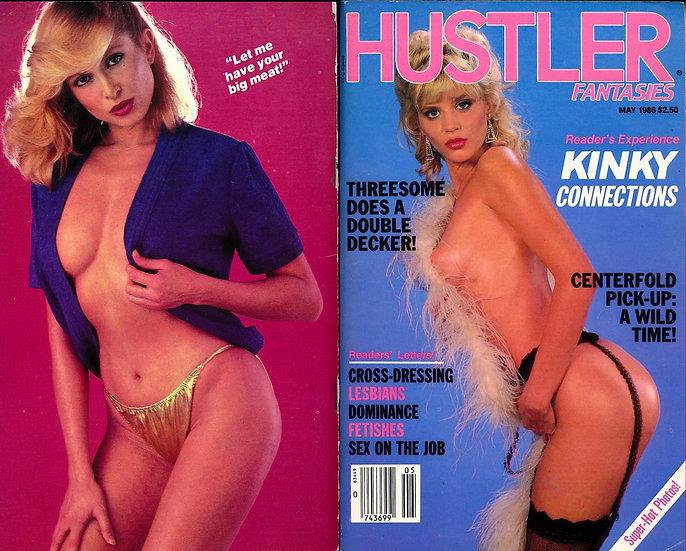 Hustler Fantasies (vintage adult digest magazine, Ginger Lynn cover, May 1986)