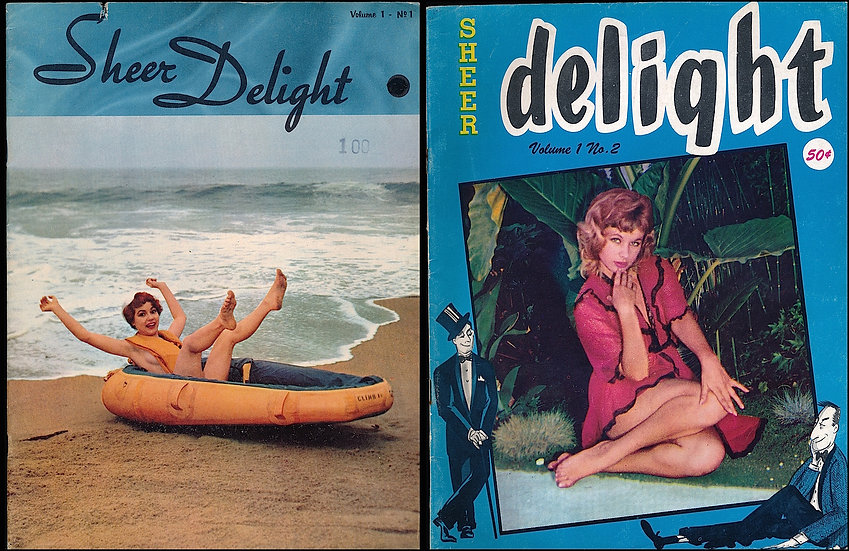 Sheer Delight (Vintage adult magazines, first two issues, 1958)