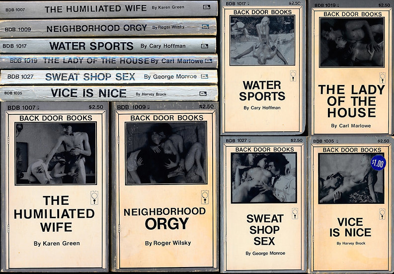 Back Door Books (6 vintage adult paperbacks, 1978)