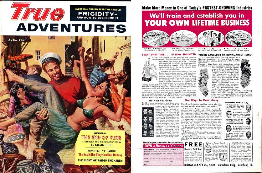 True Adventures (Vintage adventure pinup magazine, Aug 1959)