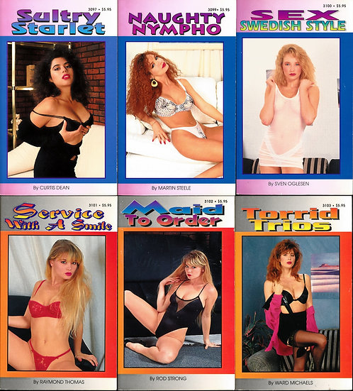 """The Best Erotica for Modern Readers,"" unknown (6 adult paperbacks, 1980s-90s)"