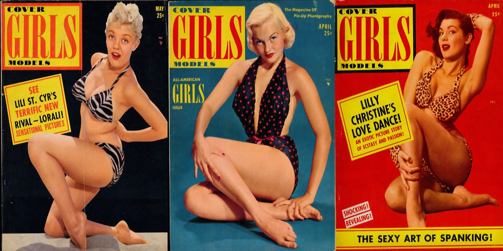 Cover Girls Models (3 vintage pin-up magazines, 1952-54)