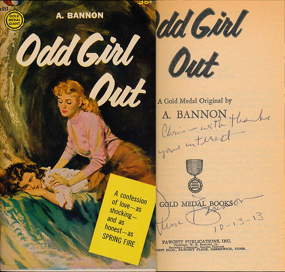 Odd Girl Out (Vintage Paperback, signed in 2013)