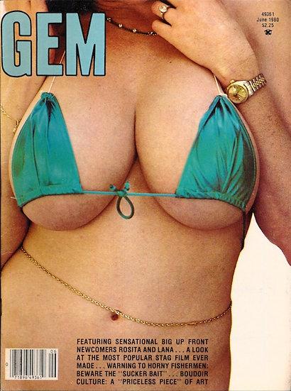 Gem (Vintage adult magazine, Jun 1980)