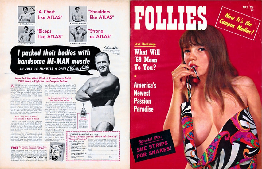 Follies (Vintage adult magazine, Michelle Angelo cover, 1969)