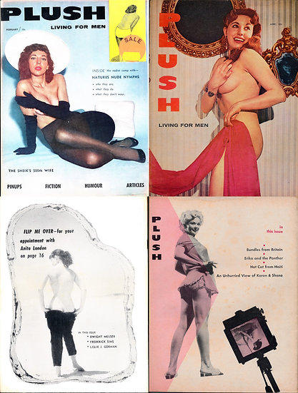 Plush [Living for Men] (2 vintage adult magazines, 1959)