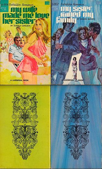 Forbidden Romances (2 vintage adult paperbacks, 1972)