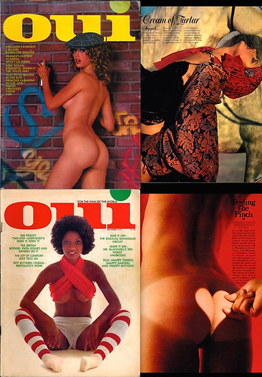 Oui [For the Man of the World] (2 vintage adult magazines, 1974)