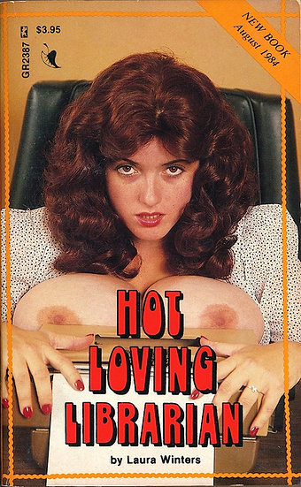 Hot Loving Librarian (Vintage adult paperback, Candye Kane cover, 1984)