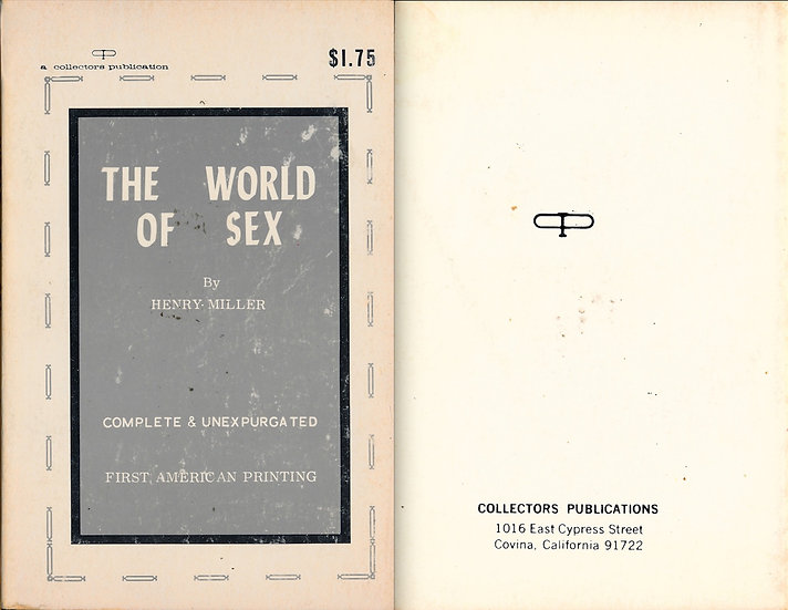 The World of Sex (vintage adult paperback)