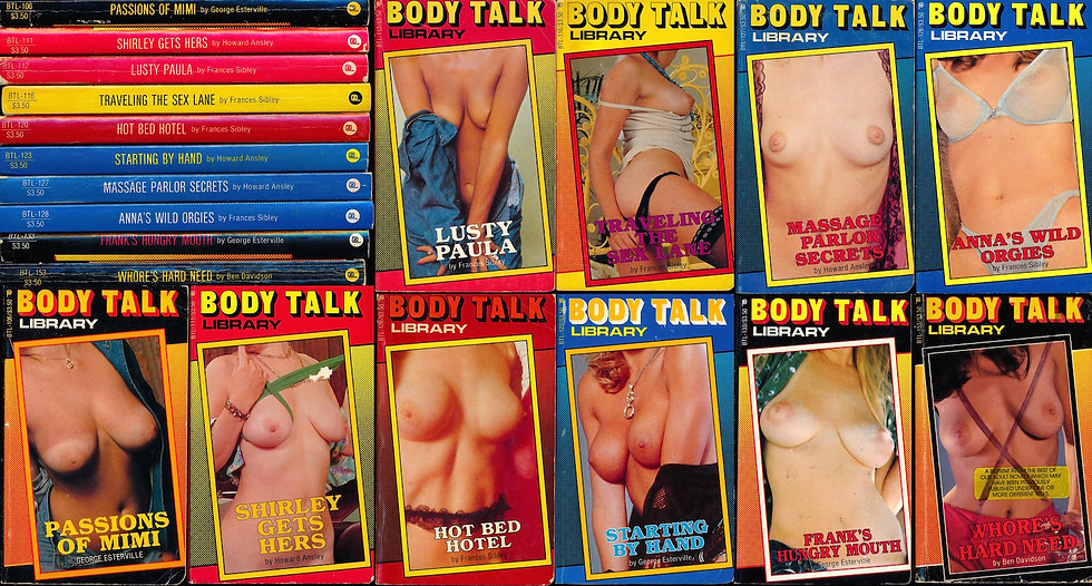 Body Talk (10 vintage adult paperbacks, 1983-84)