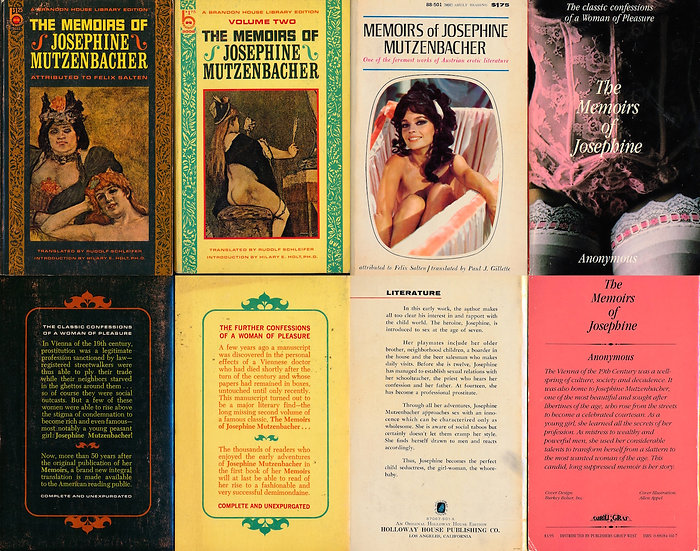 Josephine Mutzenbacher (4 vintage adult paperbacks)