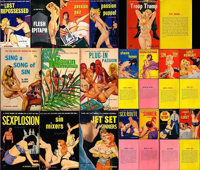 Greenleaf Classics: Leisure Book (Collection of 19 vintage adult paperbacks)