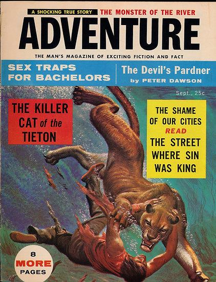 Adventure (Vintage adventure magazine, Sep 1956)