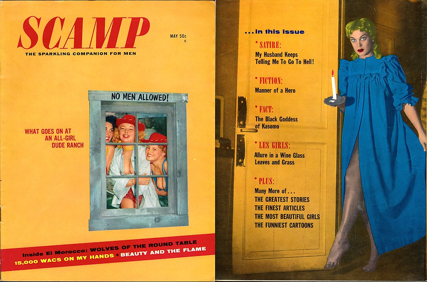 Scamp (Vintage pin-up magazine, Shirley Kilpatrick cover, 1958)