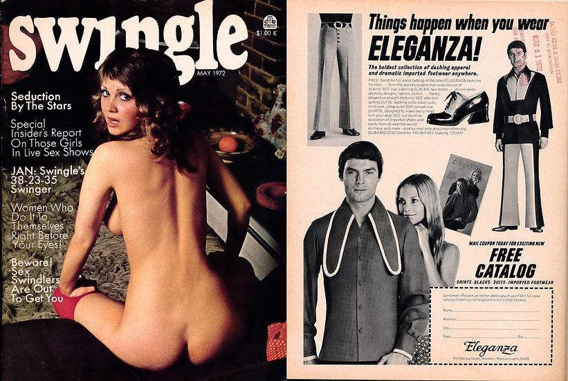 Swingle (Vintage adult magazine, Joyce Gibson feature, 1972)