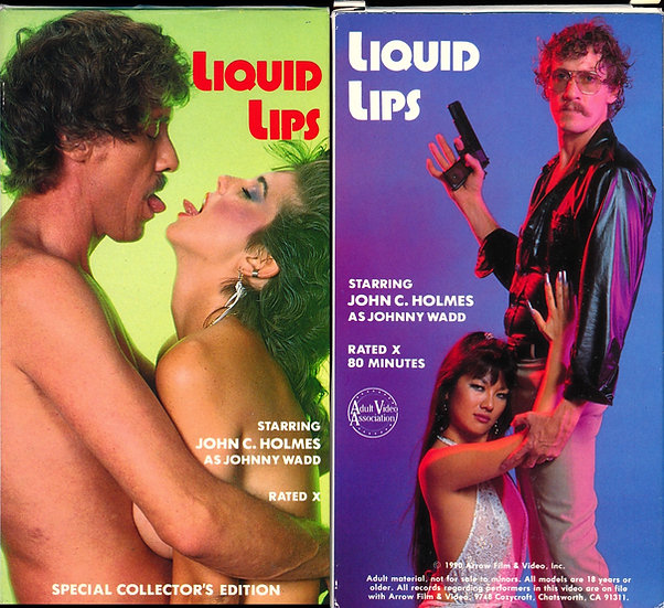 Liquid Lips (Vintage VHS cassette, John Holmes & Julia Parton cover, 1990)