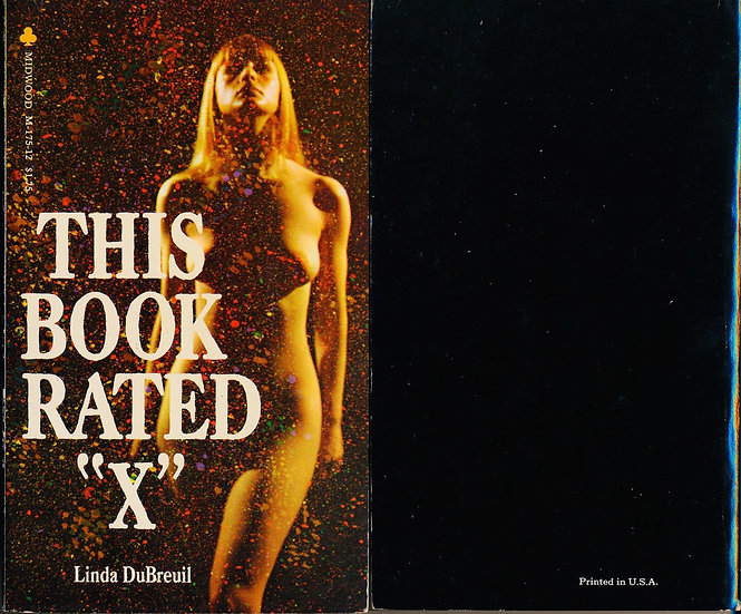 "This Book Rated ""X"" (vintage adult paperback)"