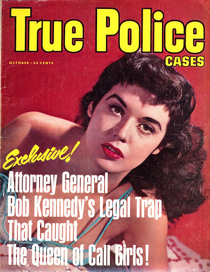 True Police Cases (Vintage crime magazine, Oct 1963, Marilyn Maher cover)