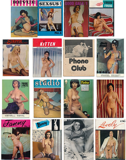 Bunny, Frou Frou, Lovely, Revue, Sexus, and more (Vintage adult magazines)