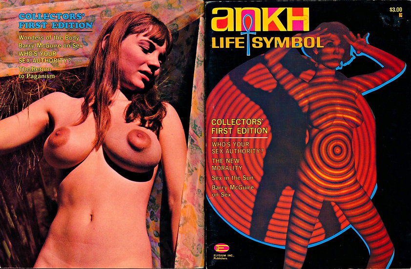 Ankh [Life Symbol] (Vintage adult magazine, premiere issue, Candy Earle, 1967)