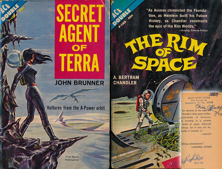 Secret Agent of Terra / The Rim of Space (First Edition, Offutt's copy, 1962)