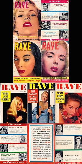 Rave (6 vintage digest magazines, 1953-55)
