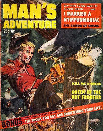 Man's Adventure (vintage adventure magazine, Nov 1957)