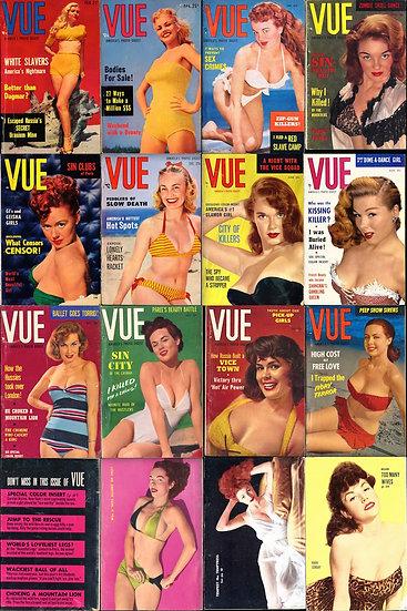 Vue [America's Photo Digest] (26 vintage digest pin-up magazines, 1952-60)