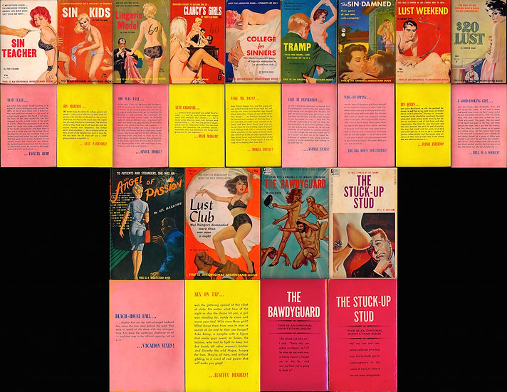 Greenleaf Classics: Nightstand Book (13 vintage adult paperbacks)