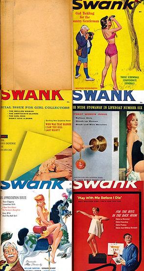 Swank (5 vintage adult magazines bound together, 1956-59)