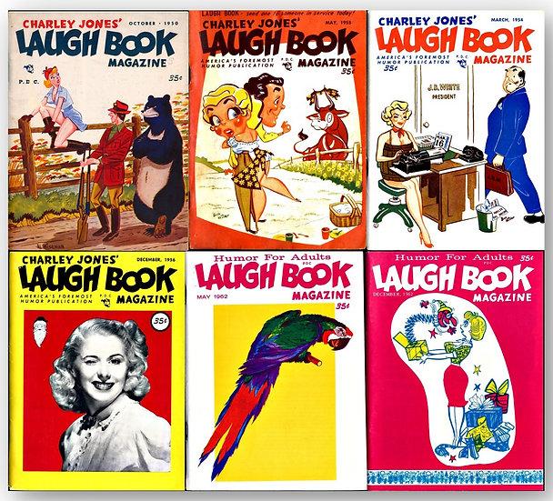 Charley Jones' Laugh Book (6 vintage digest magazines)