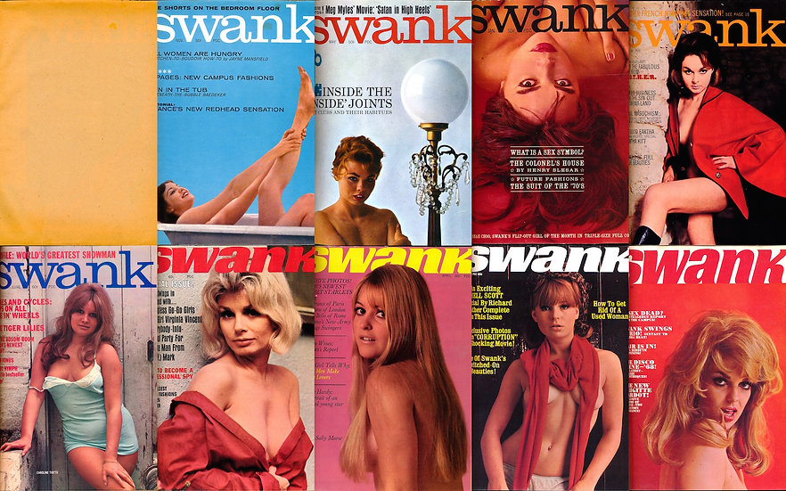Swank (9 vintage adult magazines bound together, 1961-68)
