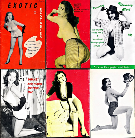 Rosemary Clarke [Clark] (3 vintage adult pinup digest magazines, 1950s)