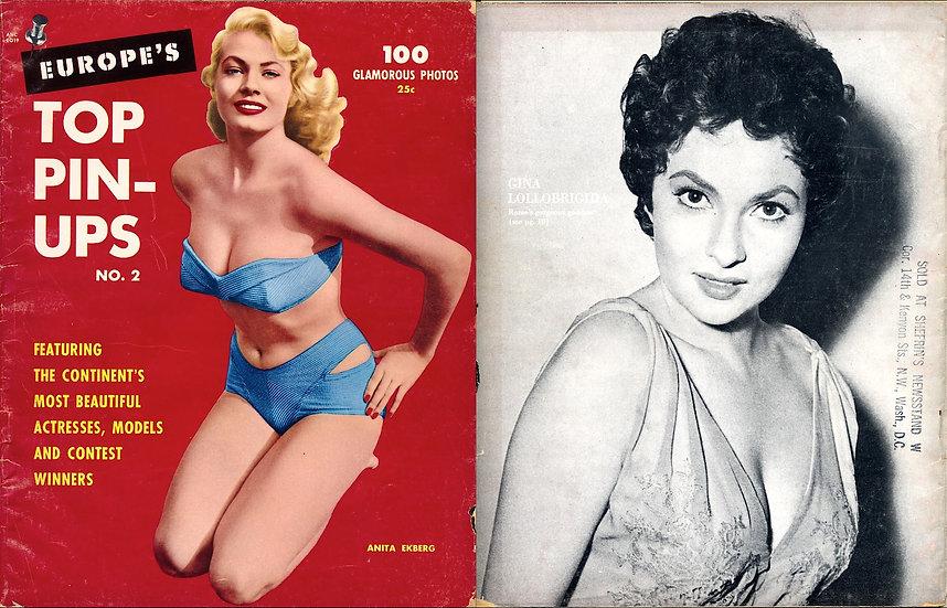 Europe's Top Pin-Ups (Vintage pin-up magazine, 1955)