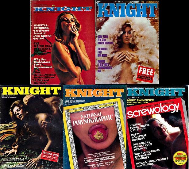 Knight (5 vintage adult magazines, 1969-78)