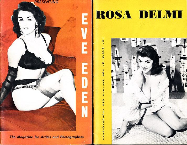 Presenting: Eve Eden / Rosa Delmi (2 vintage adult digest magazines, 1950s)