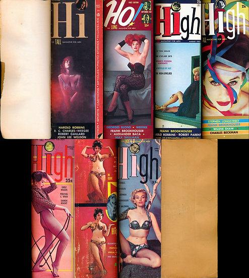 Hi / High / Ho! (6 vintage adult magazines bound together)