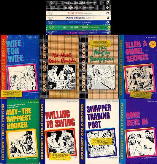 Gourmet Gold Edition (8 vintage adult paperbacks)