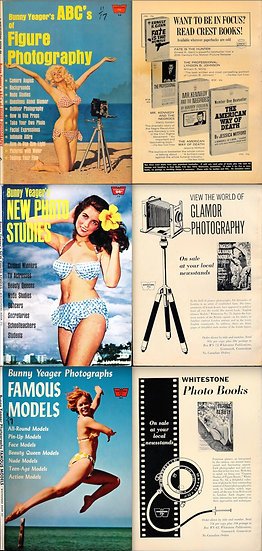 Bunny Yeager (3 vintage digest photography instructional magazines)