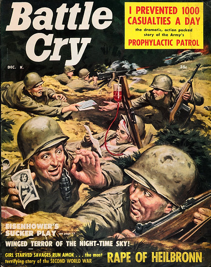 Battle Cry (vintage adventure magazine, Dec 1957)