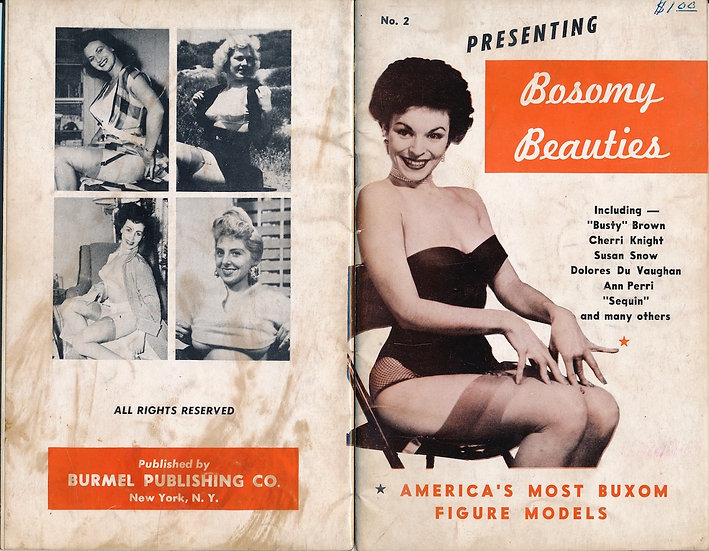Presenting: Bosomy Beauties (vintage adult pinup digest magazine, 1950s)